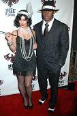 Kim Kardashian and Reggie Bush at the Pur Jeans Halloween Bash. STK, Los Angeles, CA. 10-31-08