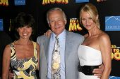 Adrienne Barbeau with Buzz Aldrin and Nicollette Sheridan  at the Los Angeles Premiere of