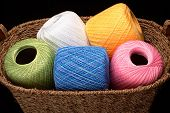 Basket Of Yarn (wide View)