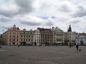 The central townsquare of the city of Plzen(Pilsen)
