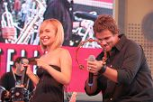 Hayden Panettiere and Bob Guiney  at 'Band From TV' Presented by Netflix Live. The Autry National Ce