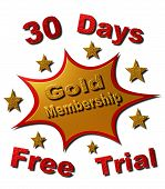 30 Days Gold Membership Free Trail (Red & Gold)