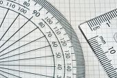 protractor with triangle