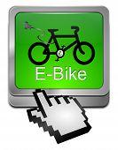 E-Bike Button with Cursor