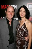 Matthew Weiner and wife Linda  at the Wrap Party for Season 2 of 'Mad Men'. Cicada, Los Angeles, CA. 08-23-08