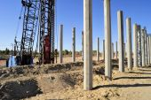 Pile Driver and Concrete Pilings