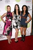 Erin Cummings with Julia Voth and America Olivo  at Project 'Visual Impact's Red Carpet Fundraiser to benefit the Boys and Girls Club. Les Deux, Hollywood, CA. 08-27-08