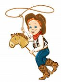 Cowboy Child With Lasso
