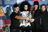 Tokio Hotel  in the press room at the 2008 MTV Video Music Awards. Paramount Pictures Studios, Los Angeles, CA. 09-07-08