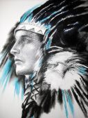 Indian with eagle
