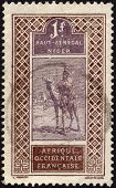 Postage Stamp From Niger Ca. 1915