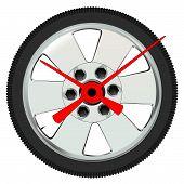 Automobile Wheel Clock