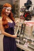 Phoebe Price  at Jennifer Kaufman Boutique at the Beverly Center, where Phoebe Price Headbands are s