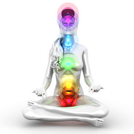 picture of tantra  - A woman performing a full chakra meditation - JPG