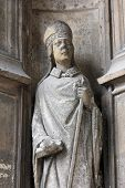 PARIS, FRANCE - NOV 11, 2012: Statue of Saint, Church of St-Germain-l'Auxerrois founded in the 7th c