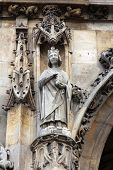 PARIS, FRANCE - NOV 11, 2012: Saint Louis statue, Church of St-Germain-l'Auxerrois founded in the 7t