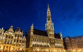 Brussels Ctiy Hall In The Evening - Belgium