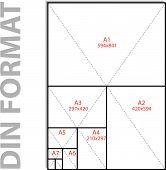 Format Din Iso, vektoriell illustration