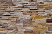Stone Brick Wall For Pattern And Background