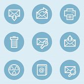 E-mail web icon set 2,  blue buttons