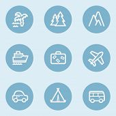 Travel  web icon set 1,  blue buttons