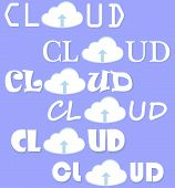 Cloud Computing Vector Set