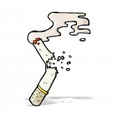 cartoon broken cigarette