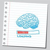 image of caricatures  - Brain loading - JPG