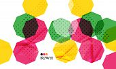 Bright colorful textured geometric shapes isolated on white - modern design template