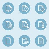 Document web icon set 2 ,  blue buttons
