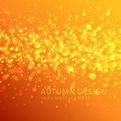Autumn vector background. Light sparkles design.