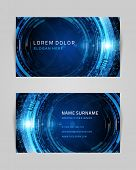 Business card vector design template. Abstract card or banner design.