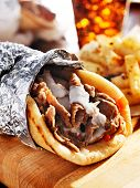 gyro with tzatziki sauce