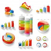 Modern infographics set. Diagrams and Bar chart design. Vector
