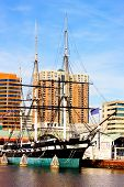 Baltimore USA - January 31 2014: U.S.S. Constellation in Inner Harbor