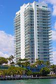 Apartment building at Miami Beach.