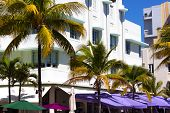 Art-deco architecture of Miami Beach downtown