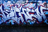MELBOURNE, AUSTRALIA - JUNE 28 2014: Street art by unidentified artist. Melbourne's graffiti managem