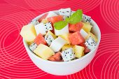 Fruit Salad And Agar Dessert
