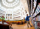 MELBOURNE - July 3, 2014: La Trobe reading room at the State Library of Victoria in Melbourne. The l