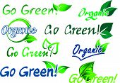 Go green organic labels
