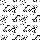 Seamless pattern of communications satellite icon