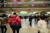 Tokyo, Japan - November 23, 2013 : People Walking In Shinjuku Train Station