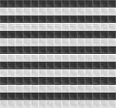 Black and White Pattern Tetrahedral Mosaic