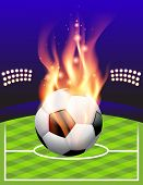 Flaming Soccer Football Background
