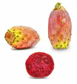 picture of prickly pears  - ripe prickly pear on a white background - JPG