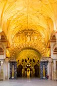 Cordoba, Spain- Jun 3: Interior of the Mosque-Cathedral of Cordoba on Jun 3, 2014. This is a medieva