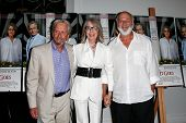 EAST HAMPTON, NEW YORK-JULY 6: (L-R) Actors Michael Douglas (L), Diane Keaton and director Rob Reiner attend the premiere of