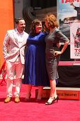 LOS ANGELES - JUL 2:  Ben Falcone, Melissa McCarthy, Susan Sarandon at the Melissa McCarthy Hand and
