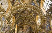 interiors of San Paolo Maggiore church, Naples Italy